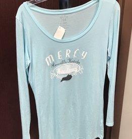 Mercy Academy Scoop Neck - Blue Top