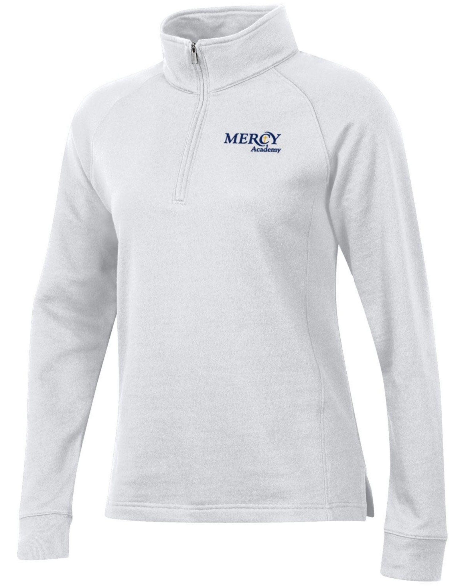 Uniform Fleece Quarter Zip - White