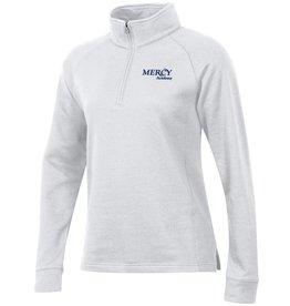 Uniform Fleece Quarter Zip - White