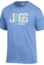 Mercy Jaguars White, Yellow & Blue T-Shirt