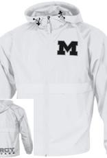 """CHAMPION Mercy Jaguars """"M"""" Full Zip White Rain Jacket"""