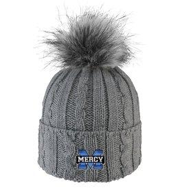 LOGOFIT Mercy Knit Beanie Hat with Faux Fur Pom