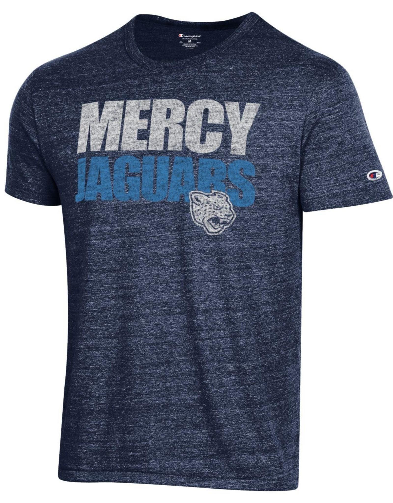 CHAMPION Mercy Jaguars Mascot Navy Tee