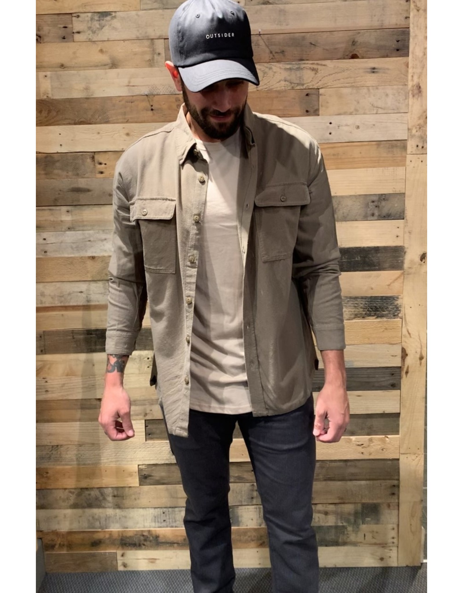 Rusty Spinnin Linen Long Sleeve Shirt