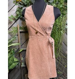 Sadie & Sage Washed Marsala Wrap Around Dress