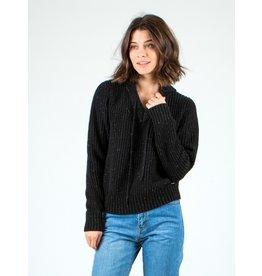 Rusty Alexa Hooded Knit Sweater