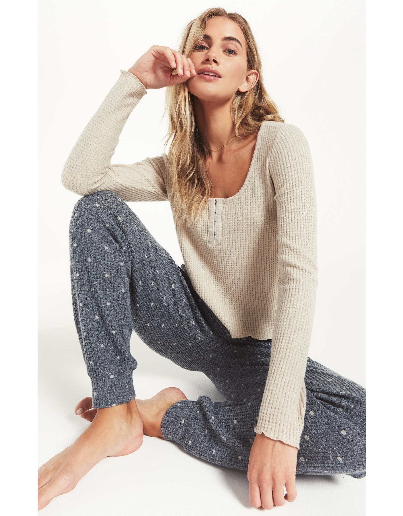 Z-Supply Take it Easy Thermal Henley Top