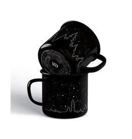 Ten Tree Enamel Juniper Camp Mug (Meteorite Black Juniper)