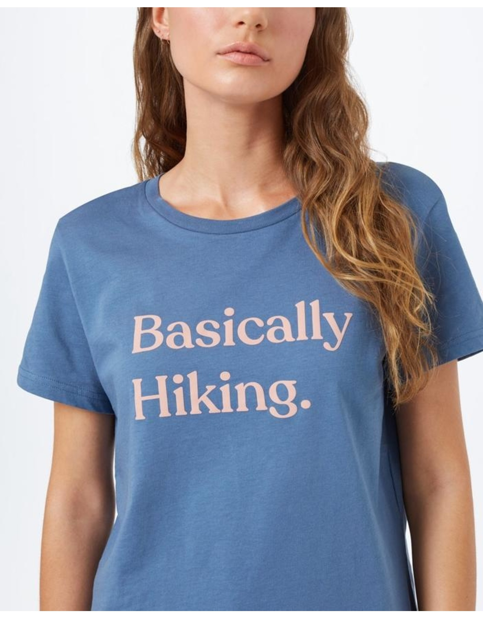 Ten Tree W Basically Hiking Boyfriend T-Shirt (Spruce Blue)