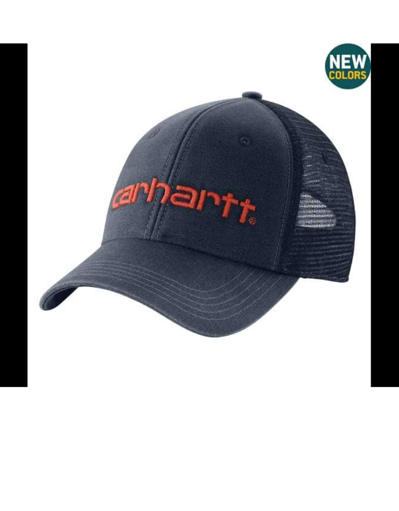 CANVAS MESH-BACK FITTED LOGO GRAPHIC CAP