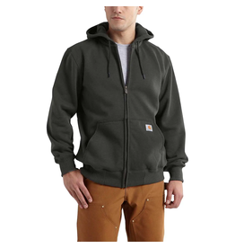 LOOSEFIT HEAVYWEIGHT HOODED ZIP-FRONT SWEATSHIRT