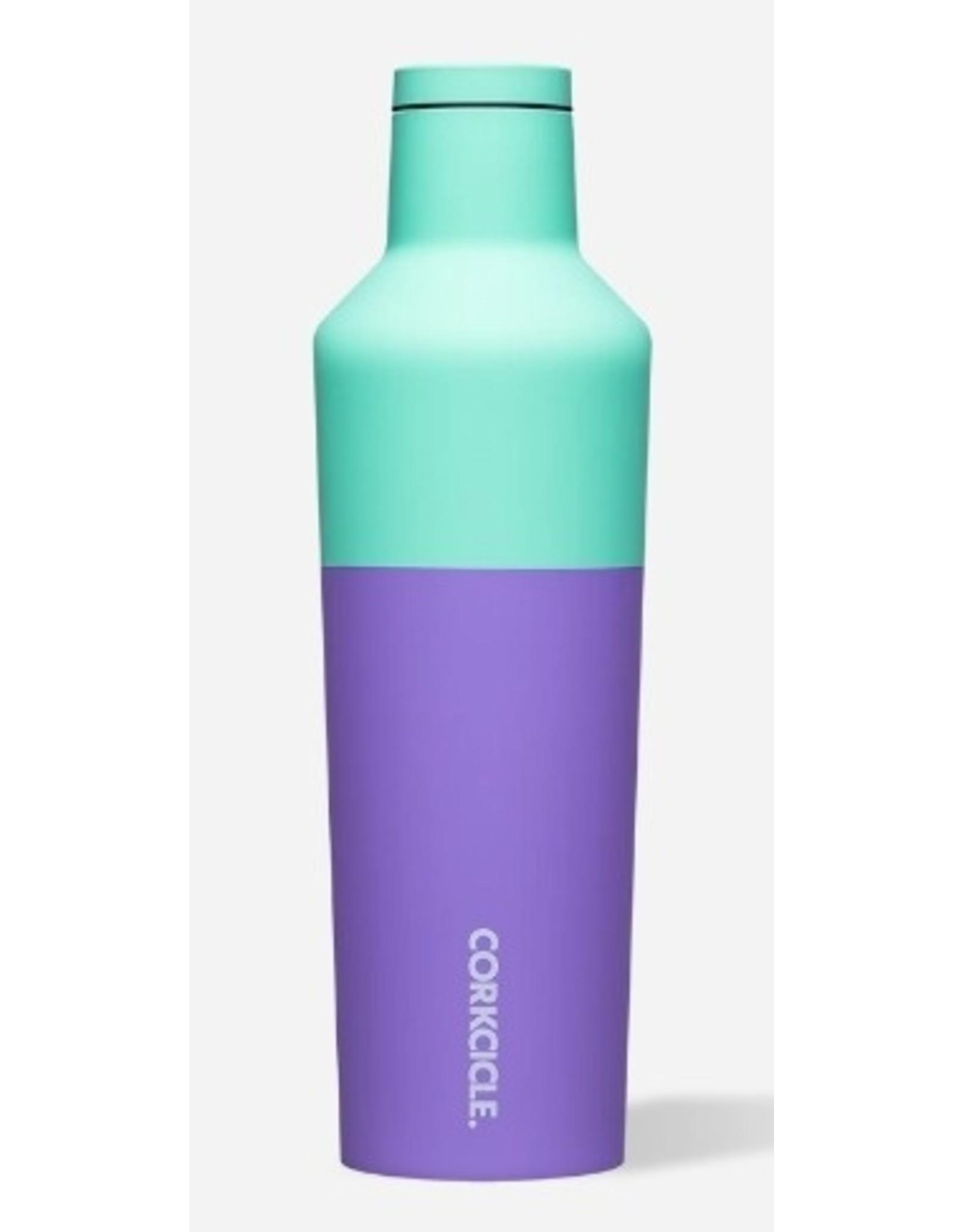 Corkcicle Canteen Bottle - 16oz Color Block Mint Berry