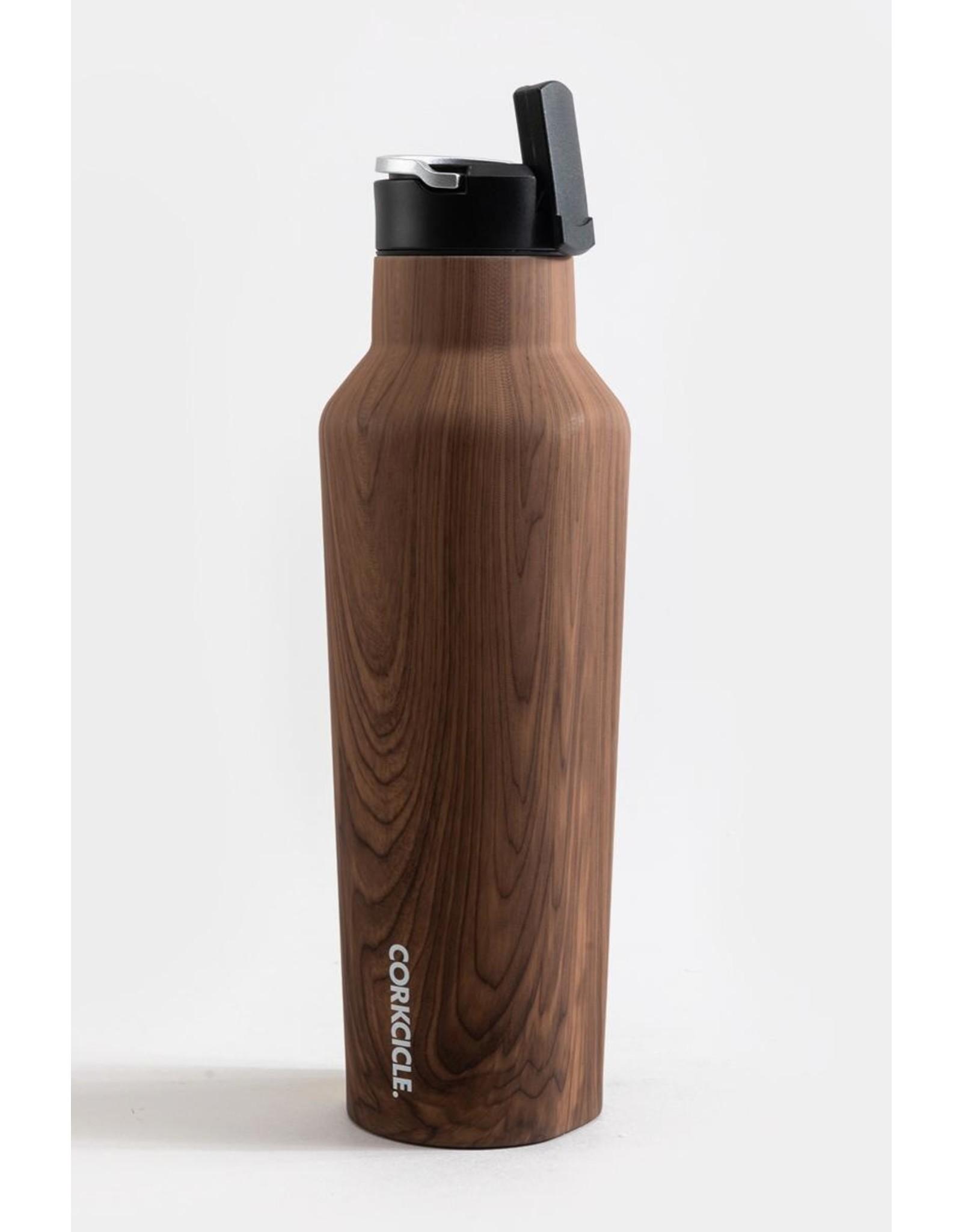 Corkcicle Sport Canteen Bottle - 20oz Walnut Wood