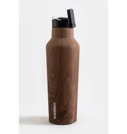 Corkcicle Sport Canteen Bottle - 20oz Walnut Wood