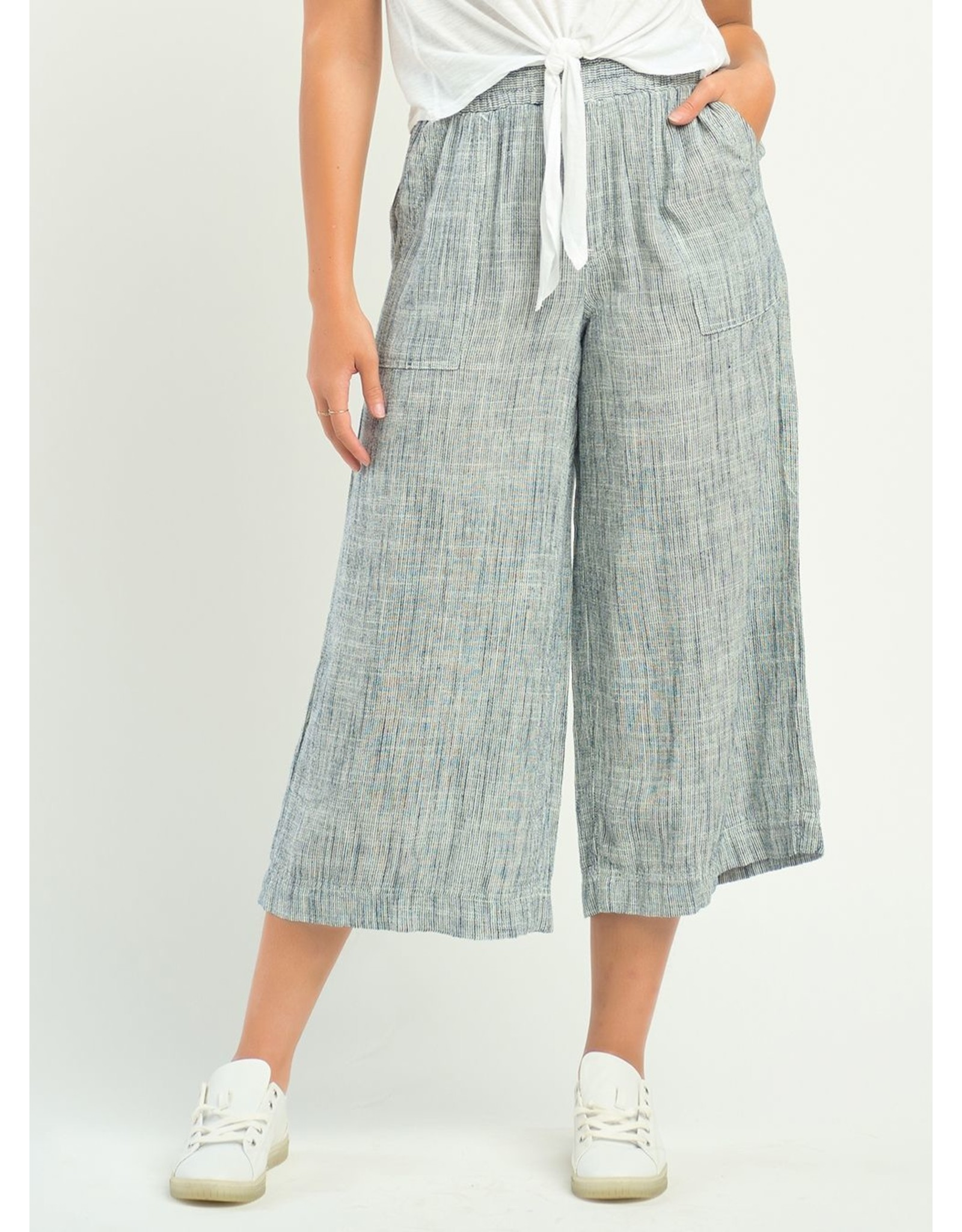 Dex PULL ON WIDE LEG STRIPED PANTS
