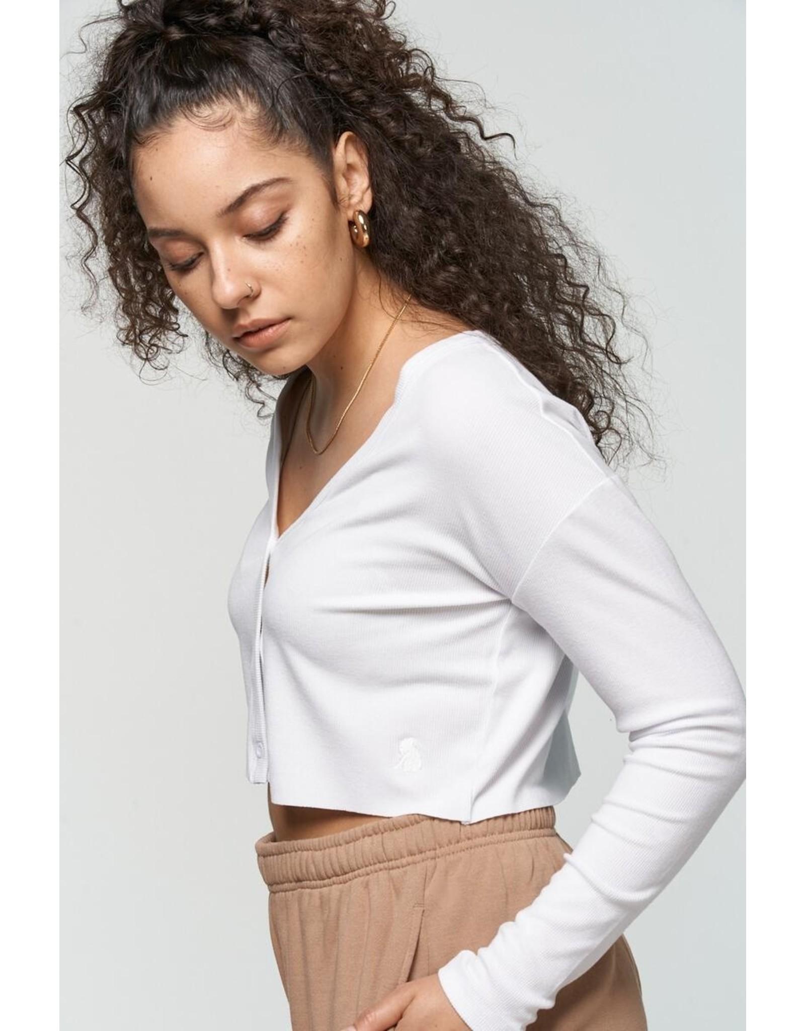 Kuwallatee Mini Cardigan Cropped Long Sleeve