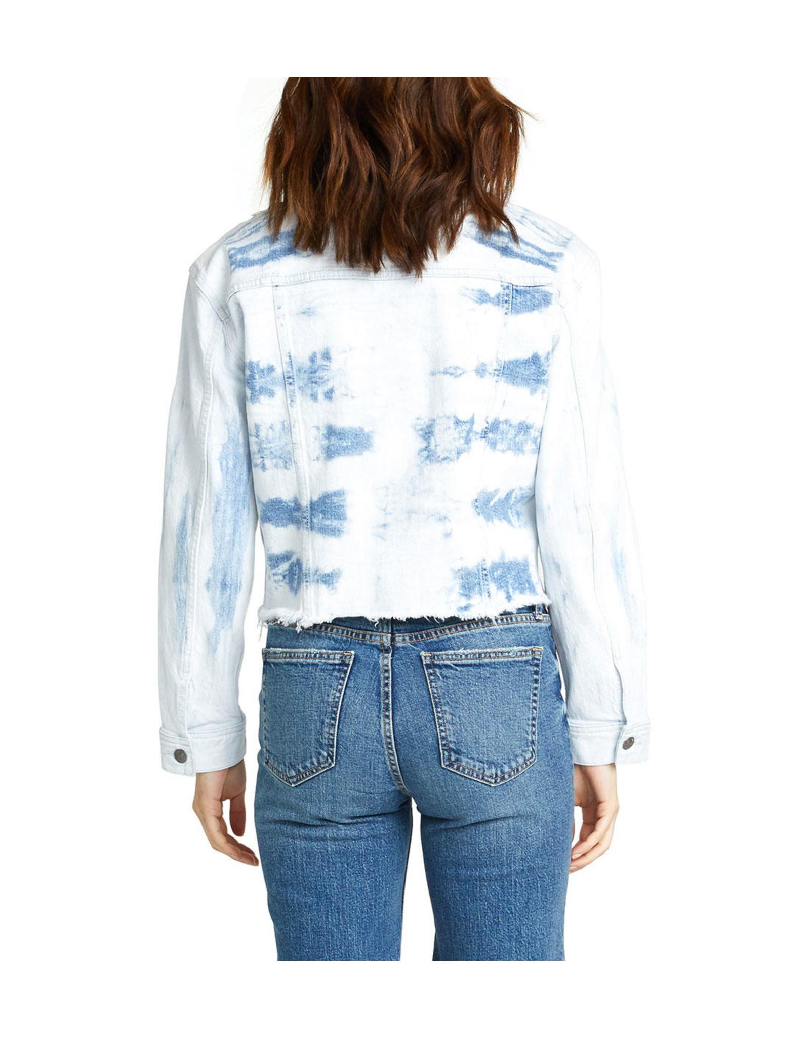 Silver Crop Denim Jacket