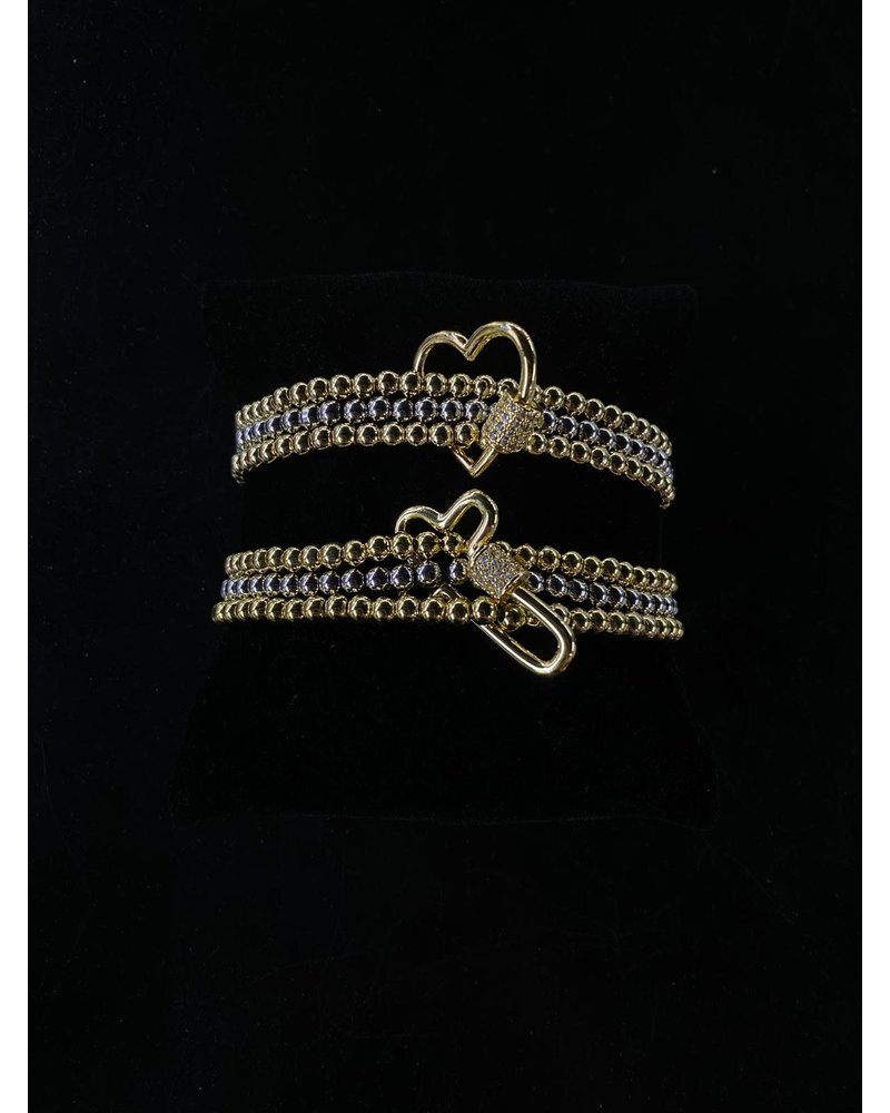 bracelet gold and silver plated