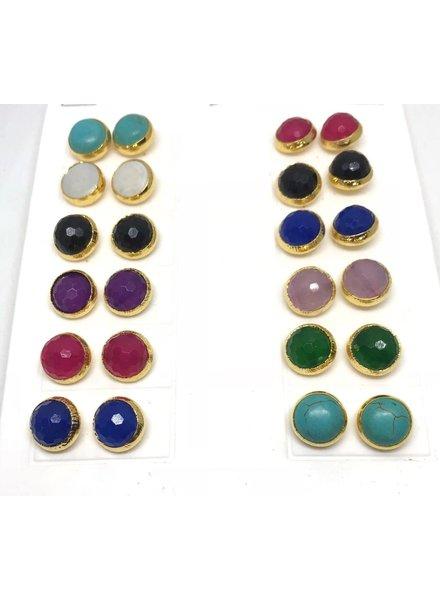 Semi Precious Studs earrings