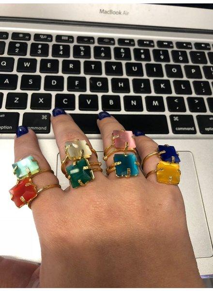 Crystals Adjustable Rings