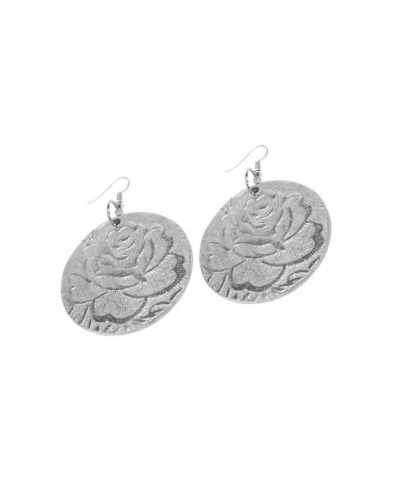 EARRINGS RONDE ROSE