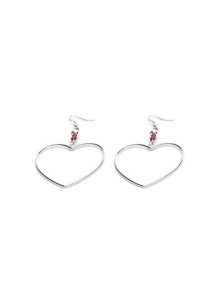 Macrame' Heart Earrings