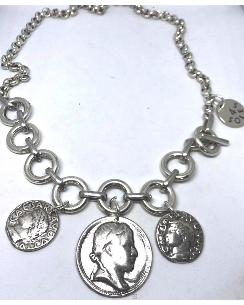 "Collar monedas 22"" 7mm"