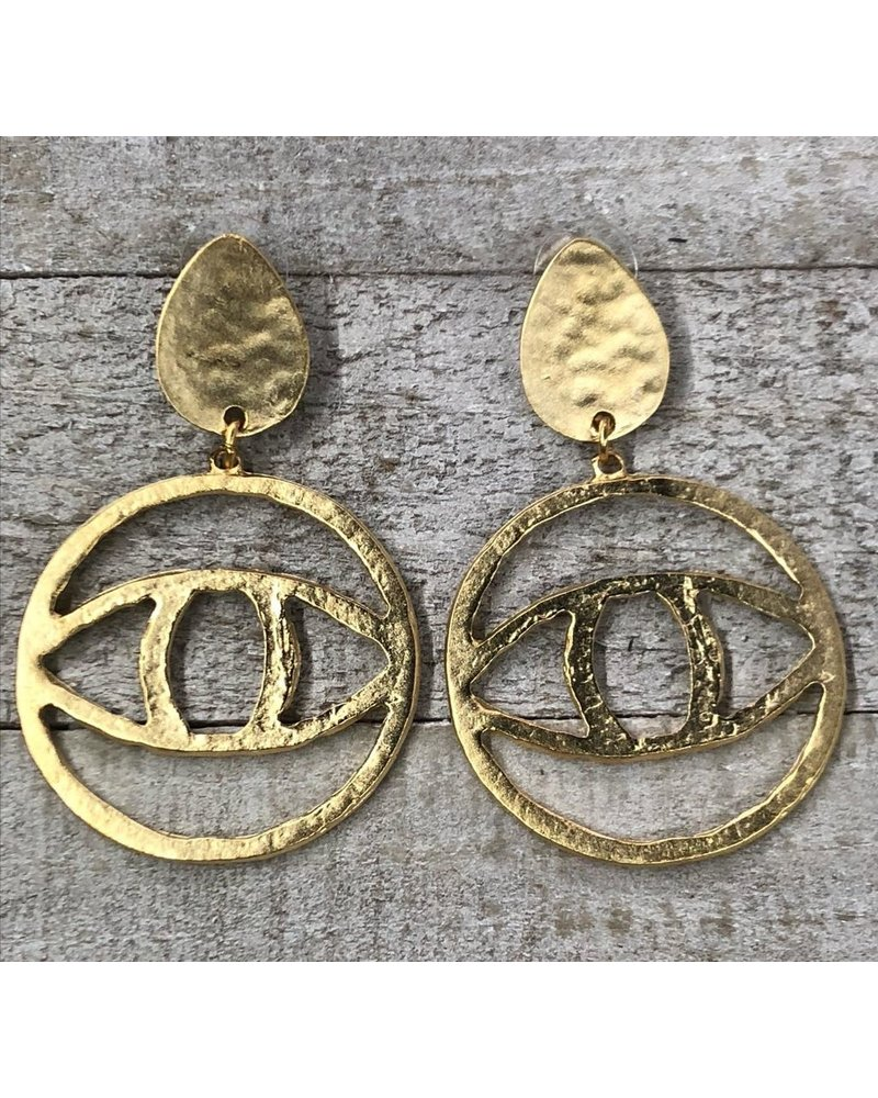 eye earrings Gold Plated