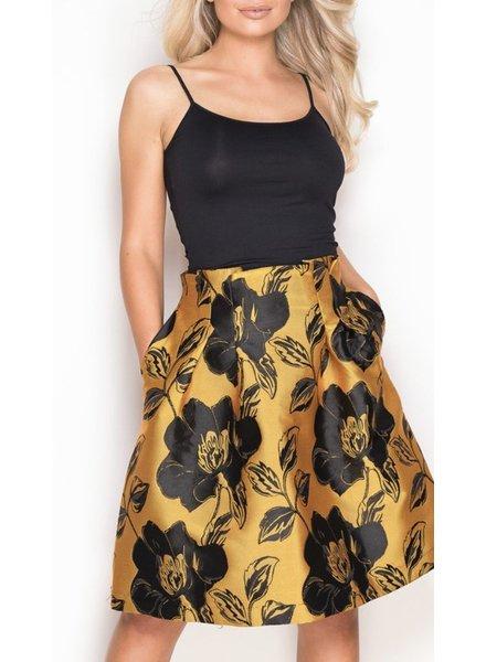 Floral Skirt Mustard