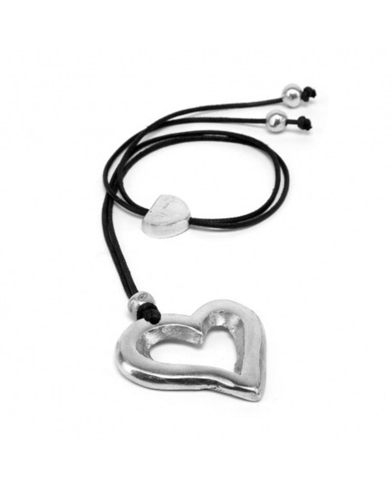 HEART A TROU, Material: 100% recycled aluminium. Nickel tested jewelry.