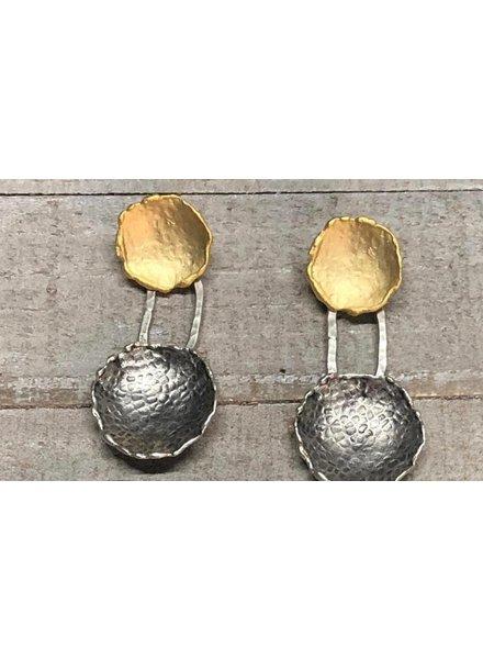 Zamac gold plated earrings