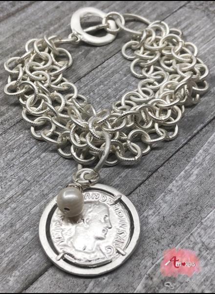 Silver Medal 4 amores Brazalet