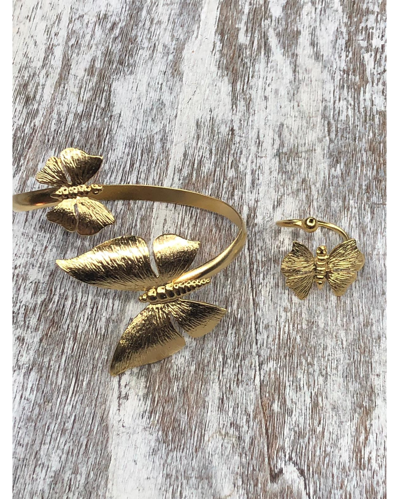 Butterflies Cuff and Ring