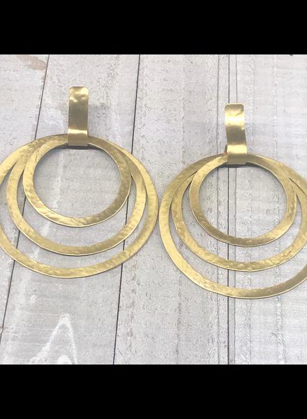 Round Brass Earrings