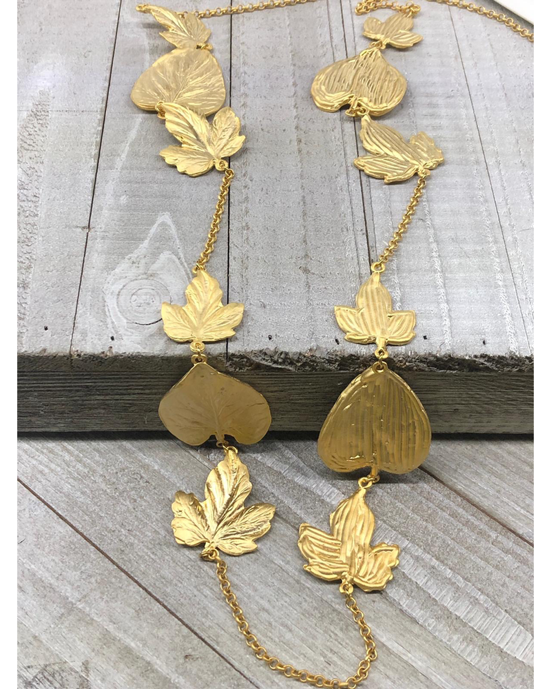 Leaves Long Necklace