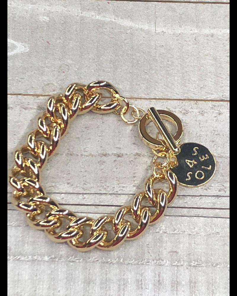 Gold Brazalet Chain