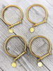 Gold Bracelet with coin