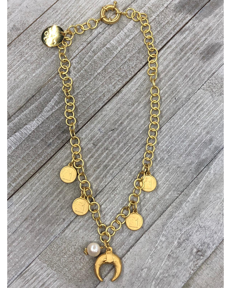 Horn coins Necklace