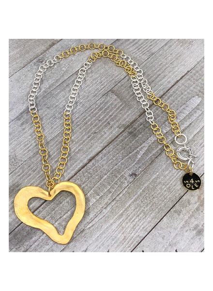 Big Heart Long Necklace