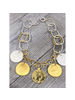 "Coins Necklace 4 Soles 19"""