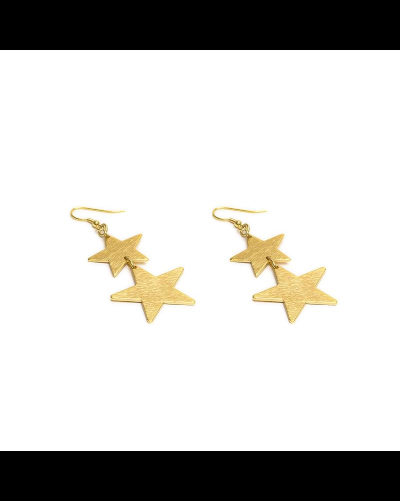 2 STARS EARRING