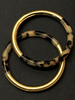 animal print matte Gold bangle