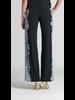 Lace Trim Print Wide Leg Pocket Pant