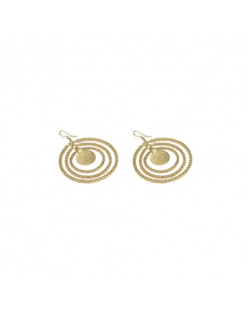 EARRINGS MOLTICIRCLES PLATE