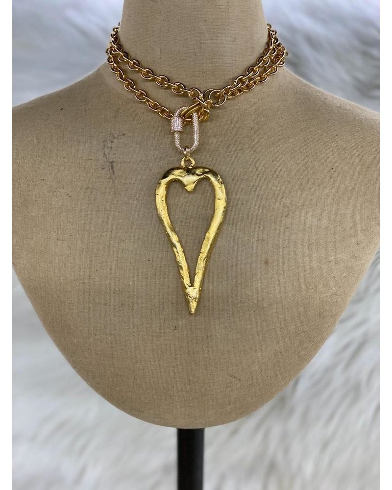 Heart Lock Long Necklace
