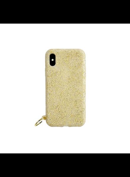 Silicone Iphone Case - Gold Confetti