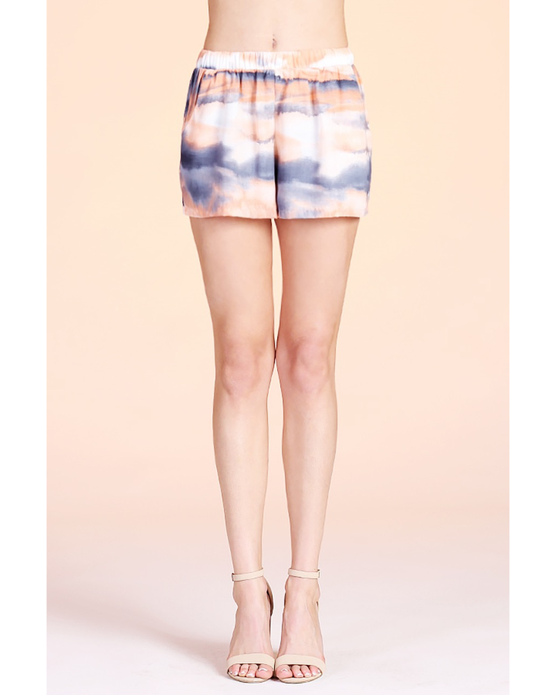 Cloud Tie Dye Pocket Shorts