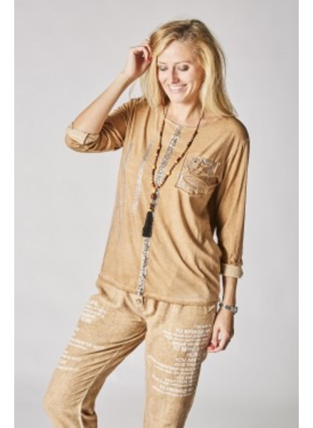 One size Ls Shirt With Sequins Details