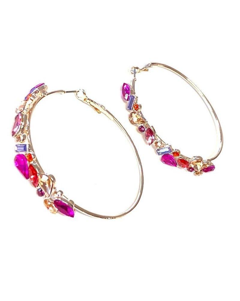 Crystals Loops Pink