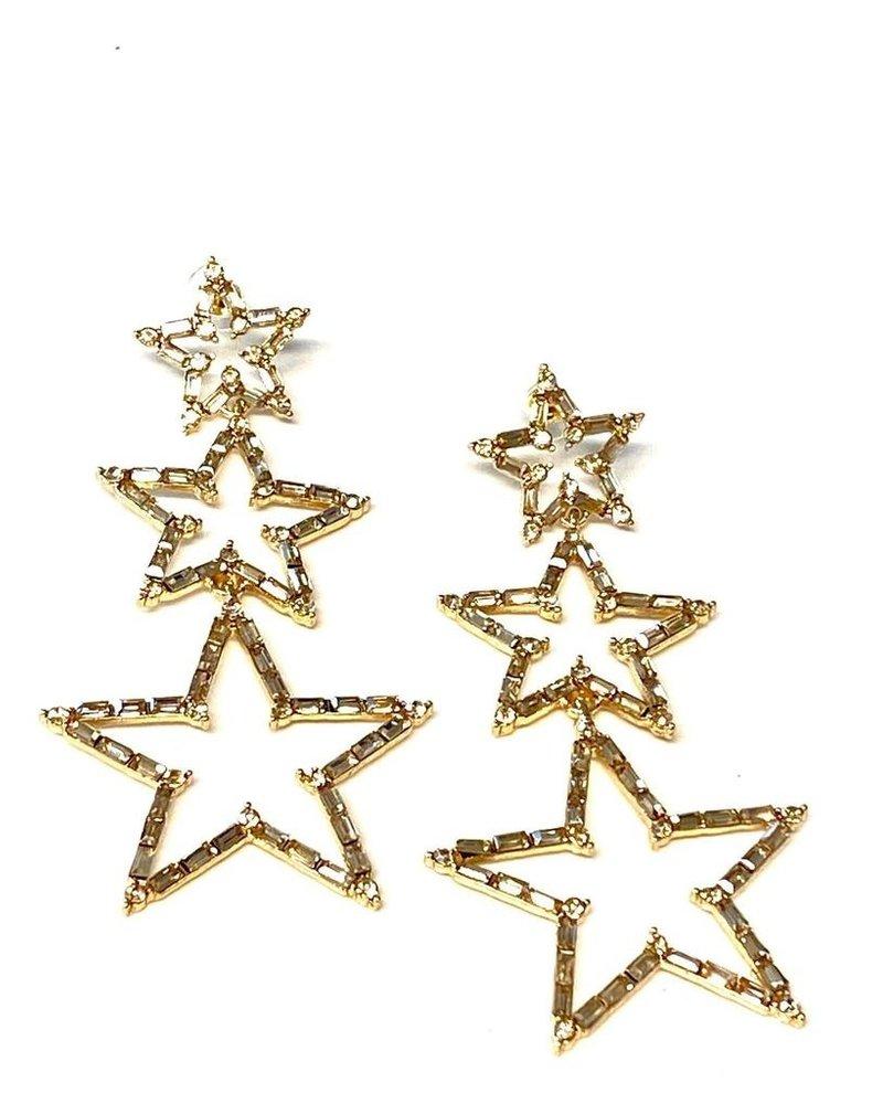 3 Stars Earrings
